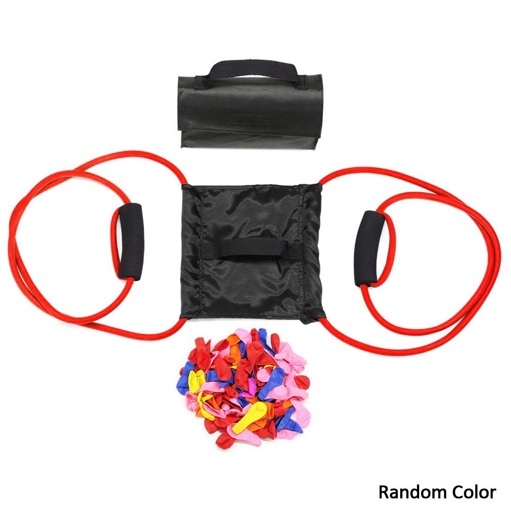 Outdoor Water Balloon Launcher Heavy Duty Water Polo Elastic Launch Single Launcher Random Color Includes 100 Water Balloons