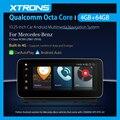 XTRONS 10,25 дюймовая Android 10,0 Octa-Core Автомобильная Мультимедийная навигационная система для Mercedes-Benz W204 2007-2010 NTG 4,0 Система