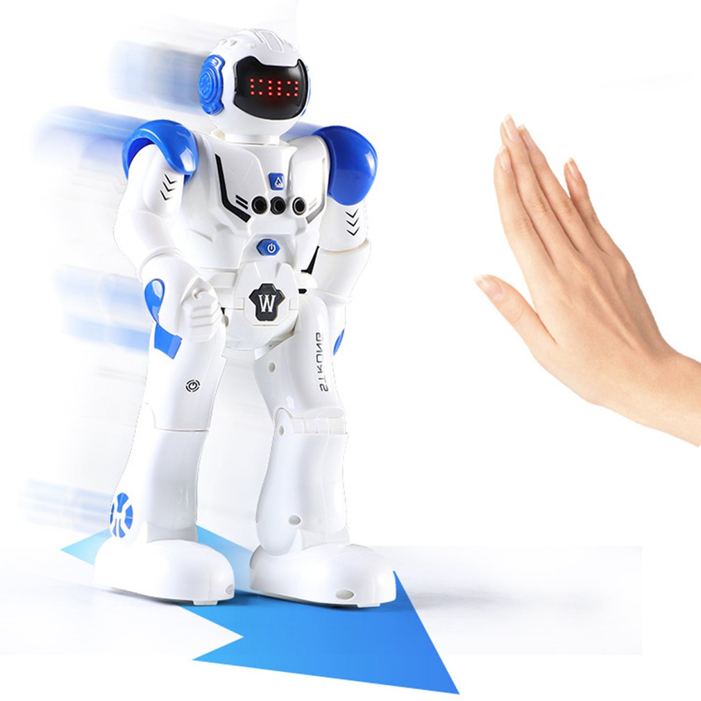 Remote Control Robot Dancing Gestures Action Figure Toy Movable Toy Robot Control RC Robot Toy Child Birthday Gift USB Charging