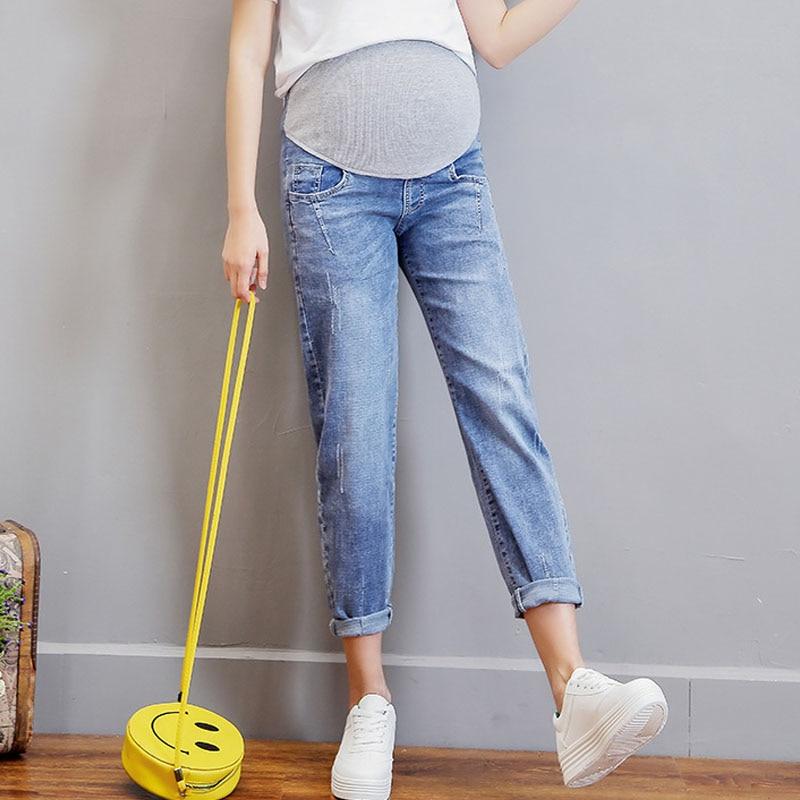 Straight Jeans Maternity Haren Pants For Pregnant Women Clothes Boyfriend Pregnancy Trousers Denim Jeans Maternity Clothing