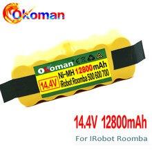 Alta Capacidade 12800mAh 14.4V Bateria Para iRobot Roomba Aspirador 500 530 540 550 620 600 650 700 780 790 870