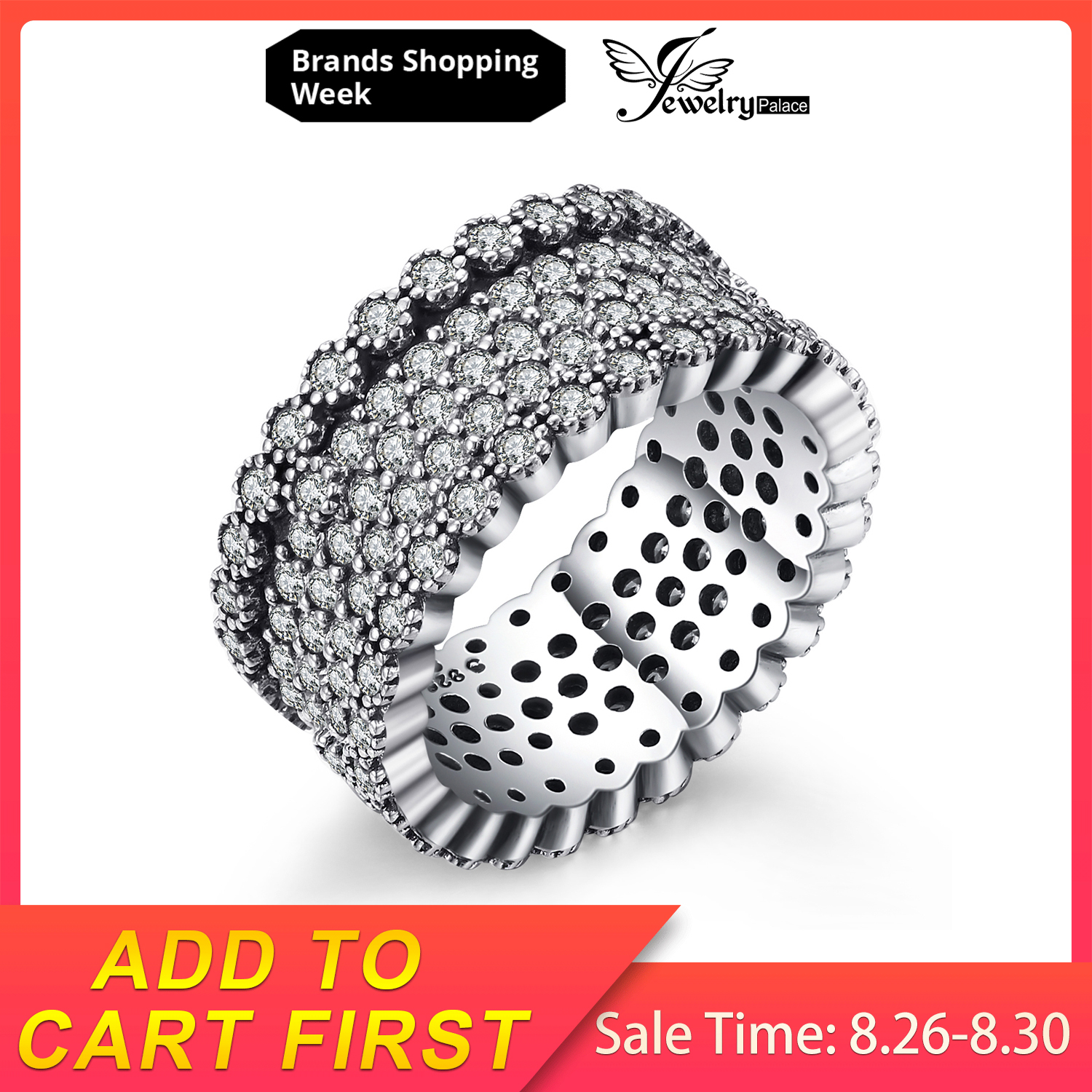 Jewelrypalace Cocktail-Ring Shimmering 925-Sterling-Silver Women For New Hot-Sale As