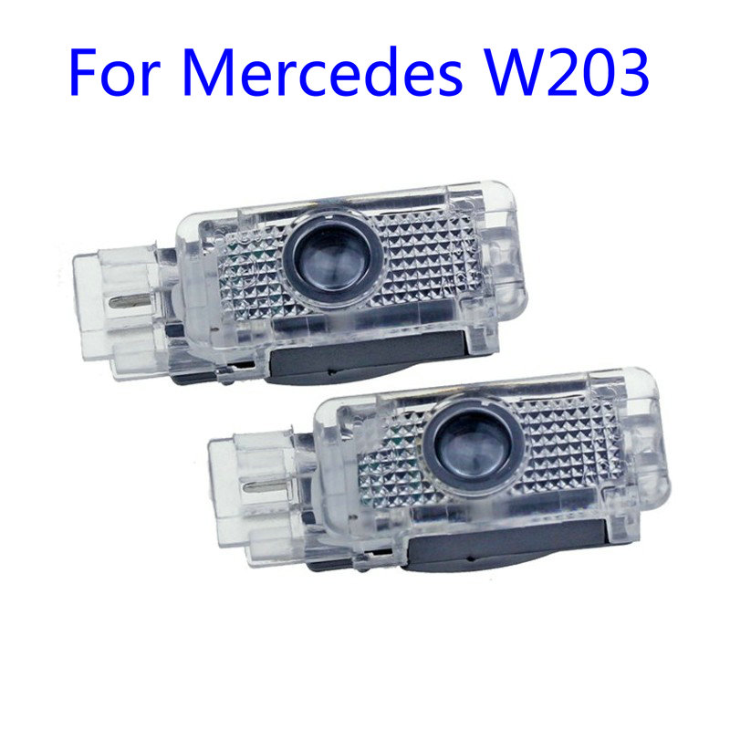 2X Led Car Door Welcome Light Logo Projector Laser For Mercedes Benz W203 C Class AMG 2001-2007 SLK CLK SLR R171 R199 W209 W240