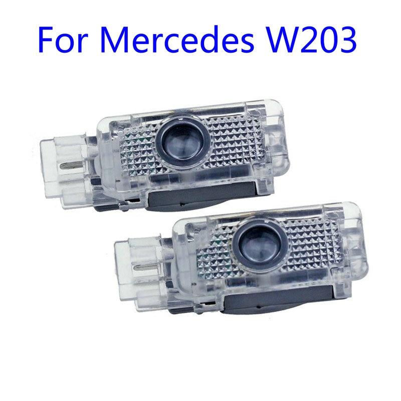2X Led Car Door Welcome Light Logo Projector Laser For Mercedes Benz W203 C Class AMG 2001-2007 SLK CLK SLR R171 R199 W209 W240