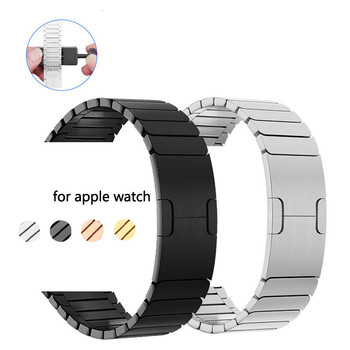 strap for Apple Watch band 42mm 38mm iwatch 4 band 44mm 40mm Stainless Steel link bracelet 316L watchband  gen.6 apple watch 5 4 bumvor for apple watch band 38 42mm black gold stainless steel bracelet buckle strap clip adapter for apple iwatch