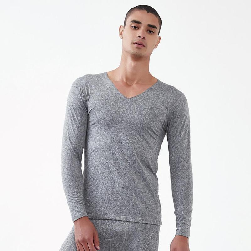 Winter Seamless Underwear Men Breathable Thermal Cotton T-shirt Pants Suits