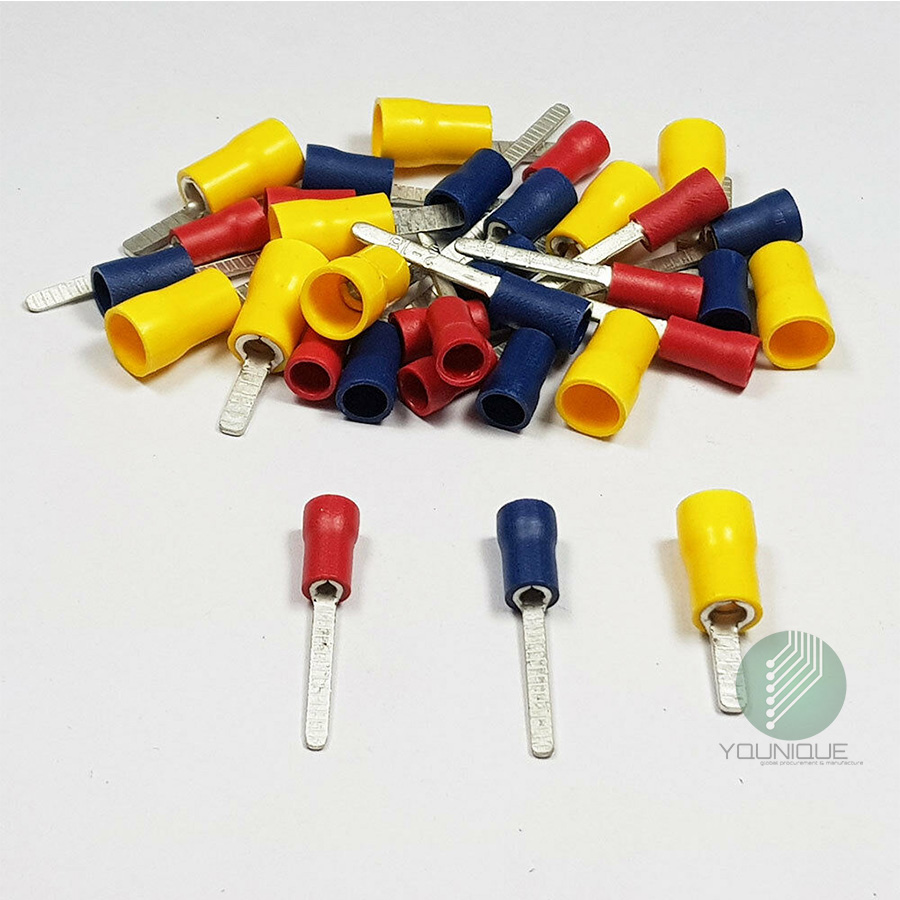20 Pcs DBV5.5-10 12-10AWG 4-6mm2 Wire Connector Insulated Pin Terminals