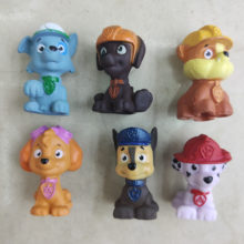 6 Pcs Toy Figures different models dogs anime figure toy action Capsule Cake decoration Children Birthday Gift