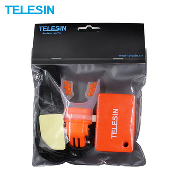 TELESIN Surfing Shoot Camera Mouth Mount + Floaty Float Lanyard Strap for GoPro SJCAM Xiaomi YI 4K DJI Osmo Action Accessories
