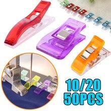 10/20/50PCS de Clips de plástico abrazaderas de tela acolchado Elaboración de ganchillo de seguridad Clips de vinculante Clips de papel