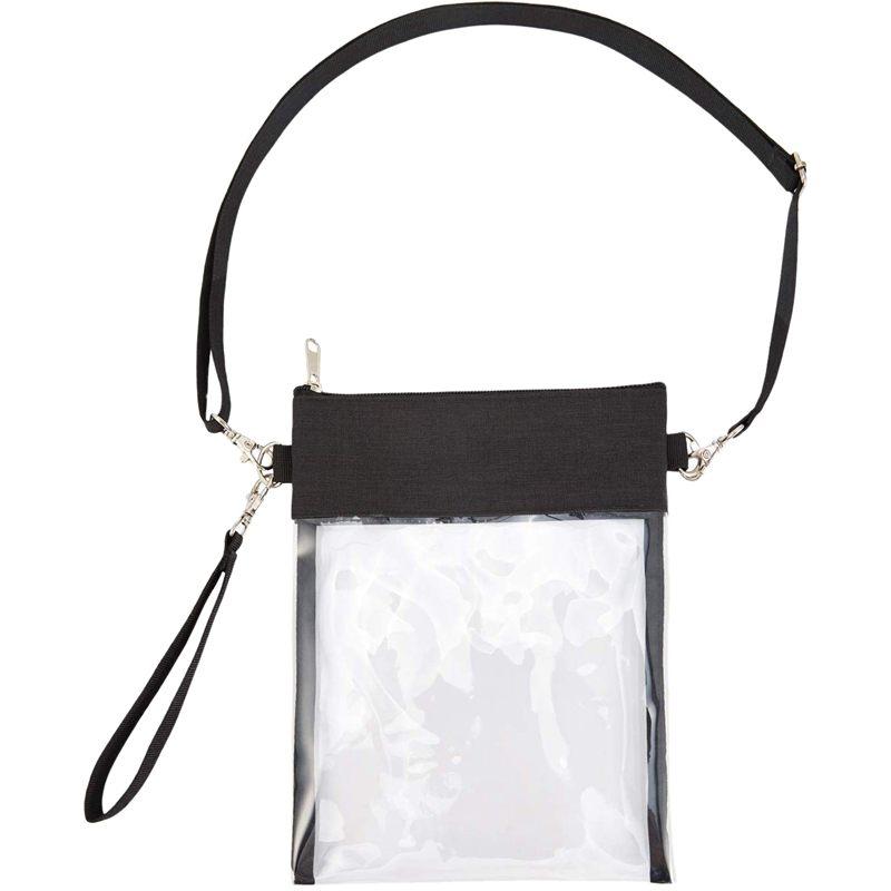 Clear Cross-Body Purse Bag Clear Stadium Bag Approved For Concert,Casino, Clear Purse With Adjustable Strap