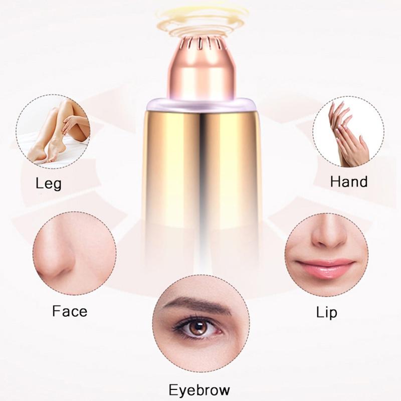 Rechargeable Mini Electric Eyebrow Trimmer Epilator Lipstick Brows Pen Hair Remover Painless Portable Face EyeBrow Razor Shaver