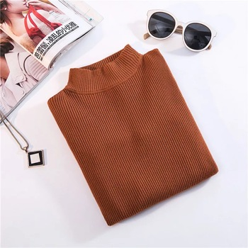 Marwin New-coming Autumn Winter Turtleneck Pullovers Sweaters Primer shirt long sleeve Short Korean Slim-fit tight sweater 11