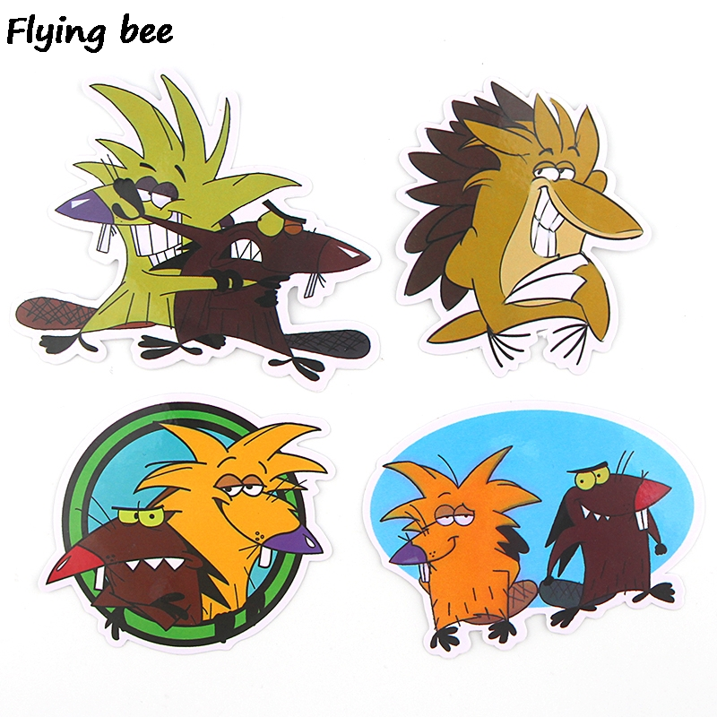 20 Flyingbee 20 pcs The Angry Beaver Sticker funny cute Stickers for DIY Luggage Laptop Skateboard Car Bicycle Stickers X0350 (4)