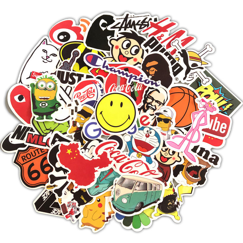 Decal Stickers Luggage Guitar Laptop Skate The Simpsons Fashion 100pcs Brand Car Mixture