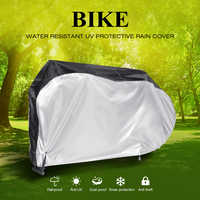Portable Bike Motorcycle Cover Protective Rain Cover Water Resistant Dustproof UV Bicycle Protector Cover with Keyhole Antitheft