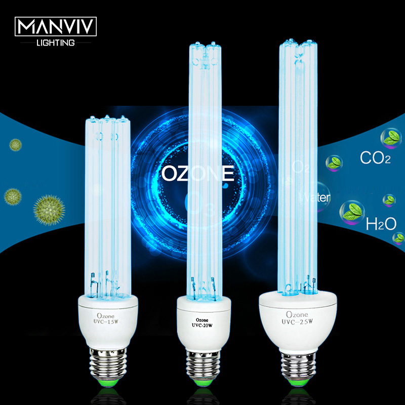 Kill Bacteria UV Light Sterilizer Desinfection Quartz E27Lamp Ultraviolet Lamp Sterilizer Portable UV Light Bulb Ozone Generator