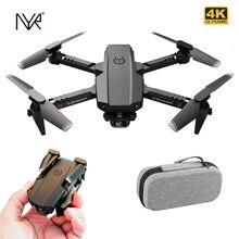 Nyr 2020 novo mini rc zangão xt6 4k 1080p hd câmera dupla wifi fpv pressão de ar altitude segurar dobrável quadcopter dron para brinquedos do menino