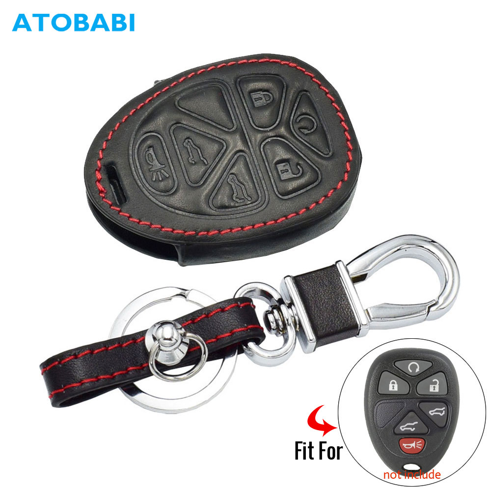 Suburban Lock And Key >> Us 4 34 13 Off Leather Car Key Case For Gmc Yukon Chevrolet Suburban Tahoe 6 Buttons Smart Remote Fob Shell Cover Protect Bag Auto Accessories In