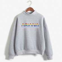 Ariana Grande Rainbow Lettered Creative Printed Long Sleeve