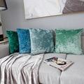 Однотонная бархатная наволочка для гостиной  спальни  декоративная наволочка  европейская элегантность  наволочка  50*50 см