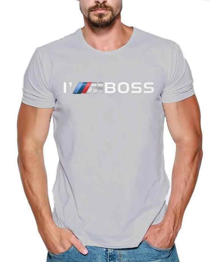 여름 남성 tshirt 2019 패션 나는 보스 m 전원 로고 재미 있은 100% 코 튼 사용자 지정 인쇄 메르세데스 f1 스바루 스즈키 t-셔츠