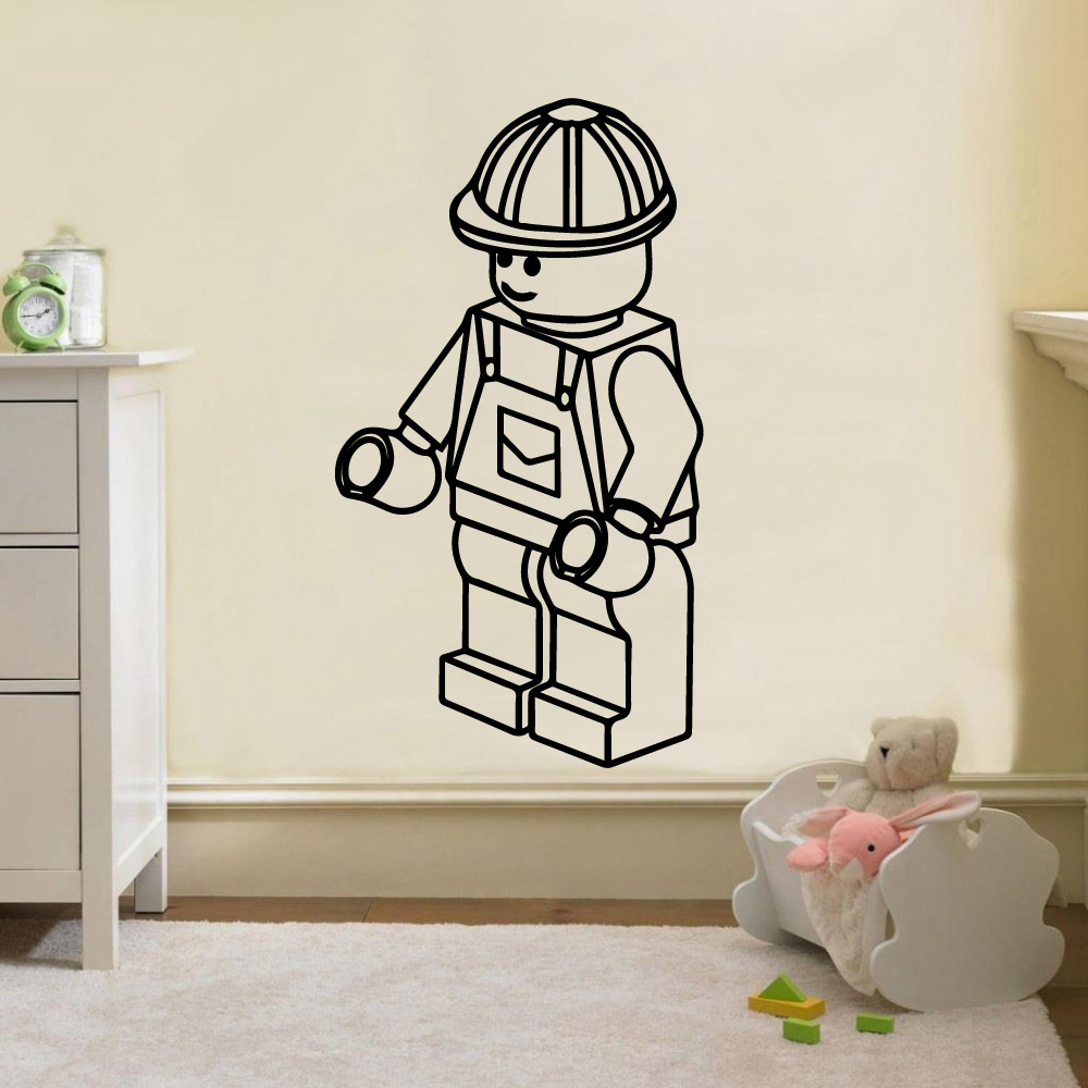 Vinyl 3d Muursticker.Us 1 89 21 Off 3d Lego Wall Sticker Vinyl Wall Decals For Kids Rooms Lego Stickers Muursticker Baby Room Decor On Aliexpress