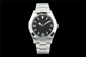 Montre numérique homme montre noir-argent montre-bracelet élégante marque de luxe 22mm bracelet de montre étanche affaires montre pour hommes