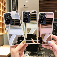 Funda protectora de silicona suave para Xiaomi POCO X3 NFC, carcasa brillante con espejo de maquillaje para Redmi Note 10, 10S, 10Pro, 9, 9T, 9S, 9Pro, 8, 8Pro