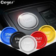 Ceyes наклейки для автомобиля ford Peugeot 5008 3008 408 508l 2008 308 4008 двигателя автомобиля кнопка запуска и остановки кольцо с чехлом для авто Стайлинг