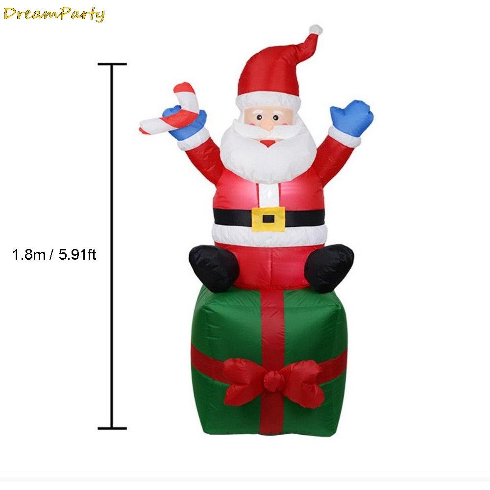 Inflatable Santa Claus Christmas Outdoors Decoration For font b Home b font navidad Ornaments Xmas New
