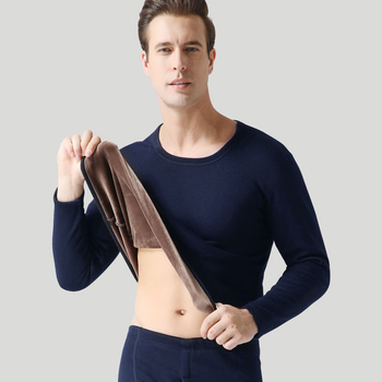Clothe and Pants Winter Man Velvet Underwear Sets Men Thermo Underwear Long  Winter Clothes Men Thick Thermal Clothing Solid 11