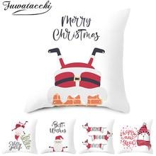 Fuwatacchi Cartoon Christmas Style Cushion Cover Cute Animal Pattern Pillow Home Sofa Car Decorative Throw Pillowcase