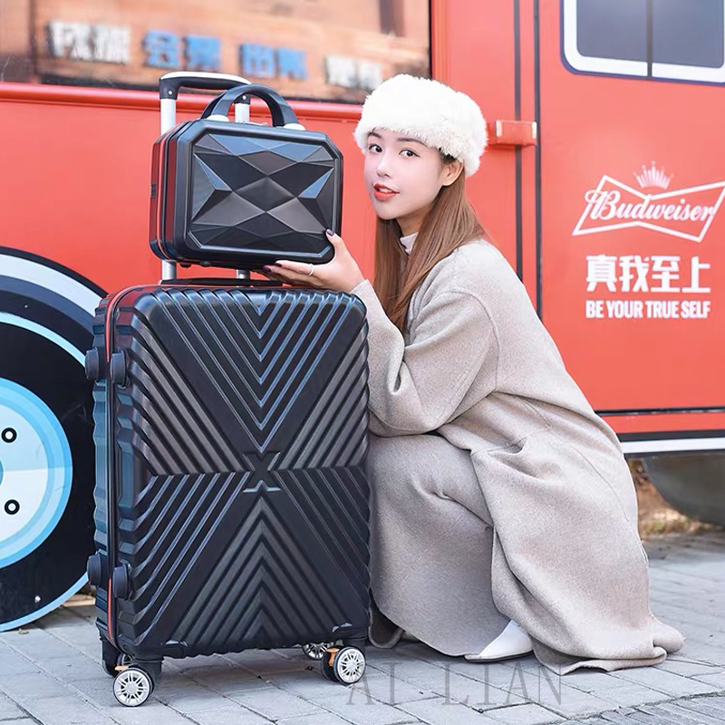 20''carry ons Cabin suitcase on wheels travel rolling luggage set trolley luggage bag travel trolley case ABS 28 inch big bag