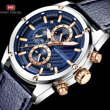 Модные мужские кварцевые часы MINI FOCUS 2019, водонепроницаемые спортивные повседневные многофункциональные мужские часы с хронографом, роскошные часы ведущей марки
