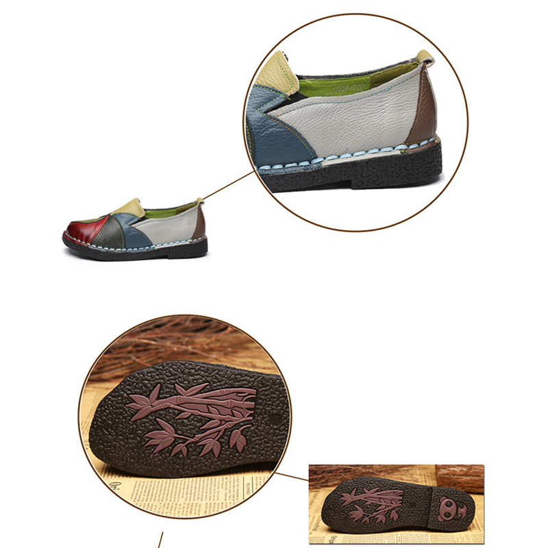 Spring Summer New PU Leather Women Flats Mixed Color Slip on Shoes for Women Moccasins Ladies Shoes Zapatos De Mujer VT660 (4)