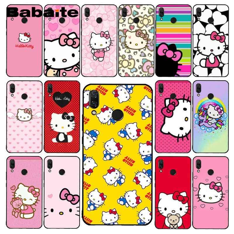 Babaite Mignon Kawaii Hello Kitty étui de téléphone pour xiaomi Redmi8 4X 6A S2 ALLER Redmi 5 5Plus Note4 5 7 Note8Pro