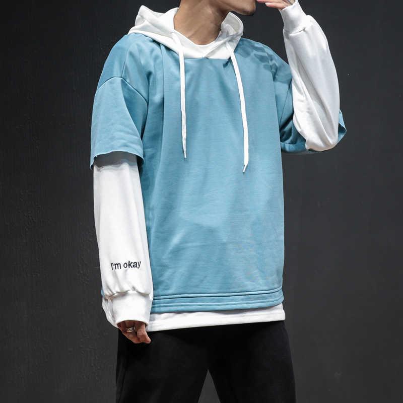 ドロップシッピング秋パーカー文字刺繍男性カジュアルスエットシャツ 2019 ヒップヒップストリートパーカー