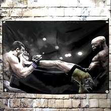 Boxing sport exercise poster Tapestry Wall Hanging Wall Carpet Bohemian Stadium Gym Home Decor Tapestries Wall Cloth Flag Banner(China)