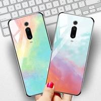 silicone case Tempered Glass Case For xiaomi mi 8 9 SE mix 2s Cases Space Silicone Covers for xiaomi mi 8 lite Pocophone F1 redmi K20 cover (2)