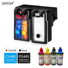 купить DMYON 445XL 446XL Ink Cartridge Compatible for Canon PG445 CL446 XL for PIXMA MX494 MG2944 IP2840 MG2440 MG2540 inkjet Printer дешево