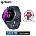 Zeblaze THOR 5 Pro Smart Uhr 1 6 zoll 3GB + 32GB Dual Kamera 800mAh GPS Smartwatch Hybrid leder Riemen für IOS & Android|Smart Watches|Verbraucherelektronik -
