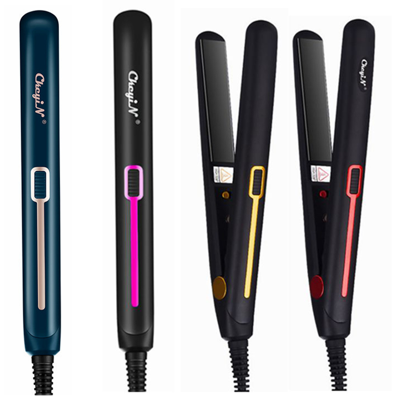 Professional 2 in 1 Mini Hair Straightener Curler Ceramic Plate Flat Iron Corrugated Iron Portable Fashion Hair Styling Tools 53