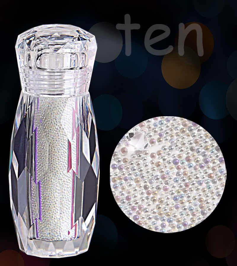1Pcs DIY Nail Art Fashion White Beads Nail Rhinestone Diamond Small Irregular Beads Manicure 3D Nail Art Decoration Shiny Gems
