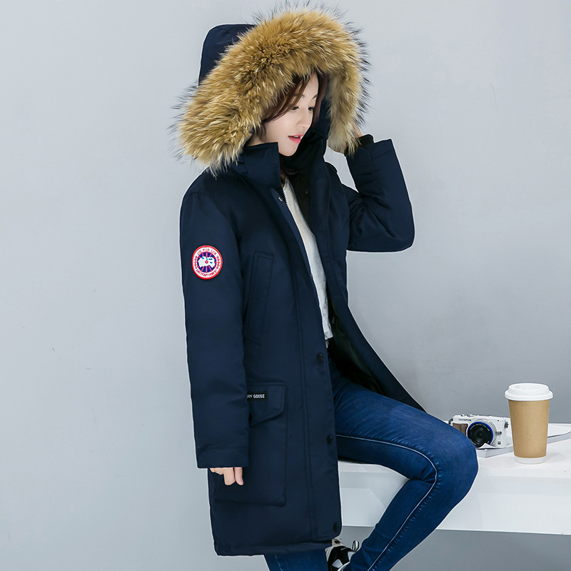 2019 Autumn And Winter New Style Women's Thick Cotton-padded Clothes Korean-style Slim Fit Fashion Canada-Large Fur Collar Large