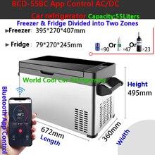 55Л автомобильный холодильник, автомобильный морозильник, охладитель AC/DC12V24V, портативный мини-холодильник, компрессор, автомобильный холодильник, автомобильный холодильник для 4x4Camping