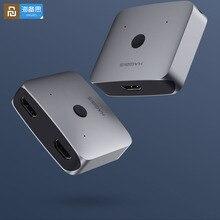 Original Youpin HAGIBIS HDMI multi fonction convertisseur adaptateur double voie HDMI répartiteur commutateur 4K 1080P HDTV pour ordinateur TV box