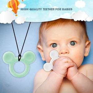 Image 5 - TYRY. HU 60 יח\חבילה עכבר Teether קריקטורה סיליקון חרוזים מוצץ קליפים תליון עבור Babytooth סיעוד מתנות תינוקות ללעוס צעצועי חדש