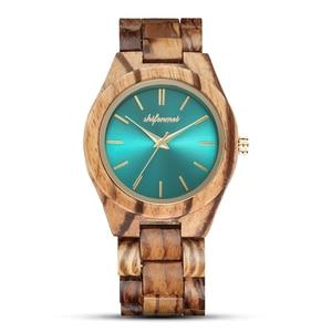 Image 1 - Shifenmei S5563 femme montres montre de mode 2019 bois décontracté pour femmes dames montre à Quartz bracelet en bois complet
