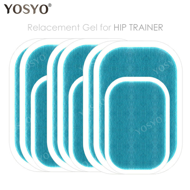 3Bags(9pcs) Replacement Gel Pads Hip Muscle Trainer Replacement Massager Gel Sheet Muscle Stimulator Exerciser Pad 1